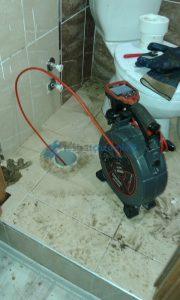 Tuvalet tıkanıklığı kamera ile görüntüleme